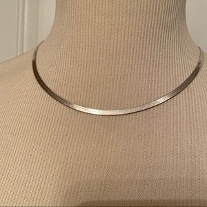 NECKLACE CHAIN STERLING SILVER 925 HERRINGBONE 18""